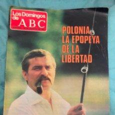 Coleccionismo de Los Domingos de ABC: REVISTA LOS DOMINGOS DE ABC LECH WALESA POLONIA PLACIDO DOMINGO BROOKE SHIELDS 30 DE AGOSTO 1981. Lote 277142418