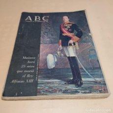 Coleccionismo de Los Domingos de ABC: ABC. MAÑANA HARA 25 AÑOS QUE MURIO EL REY ALFONSO XIII. FEBRERO 1966.. Lote 280363073