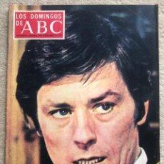 Coleccionismo de Los Domingos de ABC: REVISTA LOS DOMINGOS DE ABC (9 SEPTIEMBRE 1973) ALAIN DELON - JOSÉ DEL RIO SAINZ (PICK) - DALAI LAMA. Lote 287867443