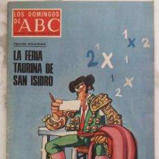 Coleccionismo de Los Domingos de ABC: LOS DOMINGOS DE ABC.MAYO 1976. FRIA TAURINA DE SAN ISIDRO.VALLE DE LOS CAIDOS.REVISTA. Lote 288471828