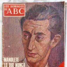 Coleccionismo de Los Domingos de ABC: LOS DOMINGOS DE ABC. AGOSTO 1975. MANOLETE.ESCRIVA DE BALAGUER. REVISTA. Lote 288515913