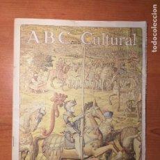 Coleccionismo de Los Domingos de ABC: ABC CULTURAL N°73 MARZO 1993 MUSEO DE TAPICES, UN PROYECTO COLGADO. UMBERTO ECO, VALENTÍN FUSTER.. Lote 289619108
