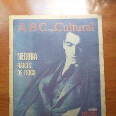 Coleccionismo de Los Domingos de ABC: ABC CULTURAL Nº 99 SEPTIEMBRE 1993 NERUDA, RAÍCES DE TRIGO. FRANCISCO UMBRAL, PICASSO. Lote 289696913