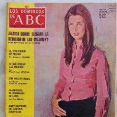 Coleccionismo de Los Domingos de ABC: LOS DOMINGOS DE ABC.22 ABRIL 1973.REBELION DE LAS MUJERES.CLINT EASTWOOD.VERUSHKA. REVISTA. Lote 289785658