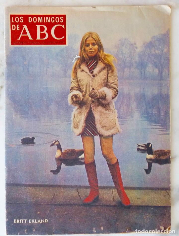 LOS DOMINGOS DE ABC. 6 ENER 1974. BRITT EKLAND. RAFAEL CANOGAR.JUAN VAN HALEN.MªJOSE PRENDES.REVISTA (Coleccionismo - Revistas y Periódicos Modernos (a partir de 1.940) - Los Domingos de ABC)