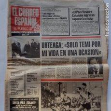 Coleccionismo de Los Domingos de ABC: EL CORREO ESPAÑOL Nº22.600-EDICIÓN RIOJA-25 FEBRERO 1985 URTEAGA-SARABIA-CHERNENKO-CARL LEWIS. Lote 297101248