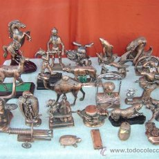 Mecheros: 26 MECHEROS GRANDES DE CALAMINA COBREADO. Lote 15747984