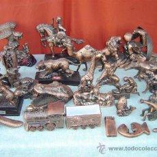 Mecheros: 24 MECHEROS GRANDES EN CALAMINA COBREADO. Lote 15748013