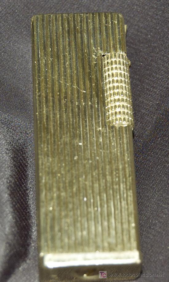 MECHERO ENCENDEDOR FLAXY METAL DORADO 6,5 X 2 CM (Coleccionismo - Objetos para Fumar - Mecheros)