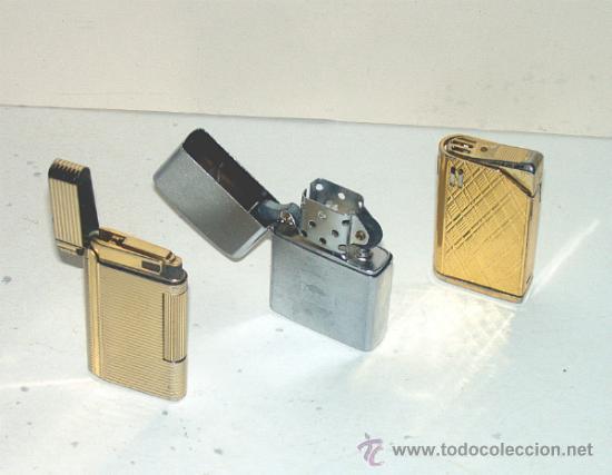 3 MECHEROS: SAROME, ZIPPU (IMITACION ZIPPO) Y HADSON. MECHERO. ENCENDEDOR. (Coleccionismo - Objetos para Fumar - Mecheros)