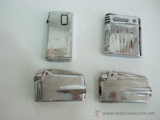 3 MECHEROS RONSON VARAFLAME - 1 MECHERO MAGNA (Coleccionismo - Objetos para Fumar - Mecheros)