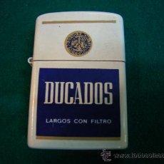 Mecheros: MECHERO DE GASOLINA PUBLICIDAD TABACO DUCADOS. Lote 31970140