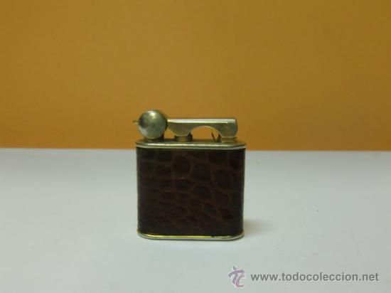 MECHERO GASOLINA PIEL DE COCODRILO (Coleccionismo - Objetos para Fumar - Mecheros)