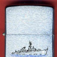 Mecheros: MECHERO ENCENDEDOR ZIPPO , BRADFORD , USS BARNEY DDG 6 , ORIGINAL, Z5. Lote 33349982