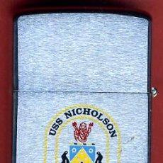 Mecheros: MECHERO ENCENDEDOR ZIPPO , BRADFORD , USS NICHOLSON DD- 982 , ORIGINAL, Z6. Lote 33350006