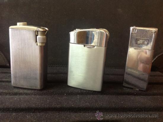 Mecheros: Lote de tres mecheros - encendedores de colección. Bien conservados, ver fotos. - Foto 2 - 39216868