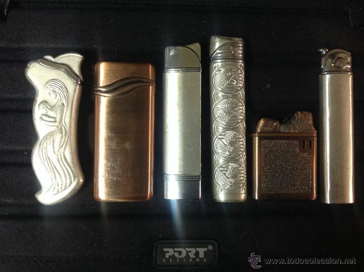 Mecheros: 6 mecheros - encendedores de colección. - Foto 2 - 235858795
