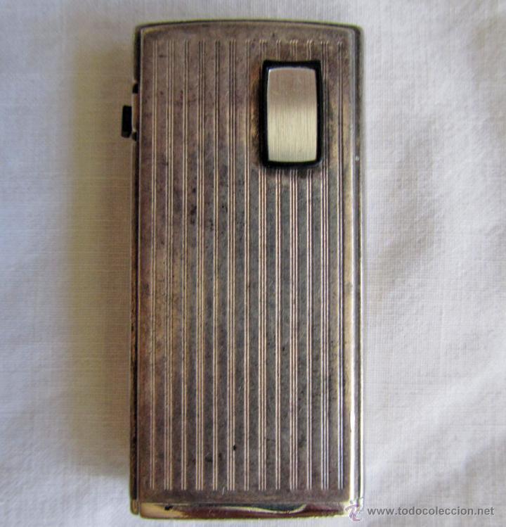 MECHERO RONSON LAMINADO EN PLATA, ELECTRÓNICO (Coleccionismo - Objetos para Fumar - Mecheros)