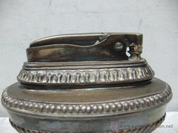 Mecheros: Ronson - Antiguo mechero en plata de gasolina de los años 40 - Foto 2 - 44944786