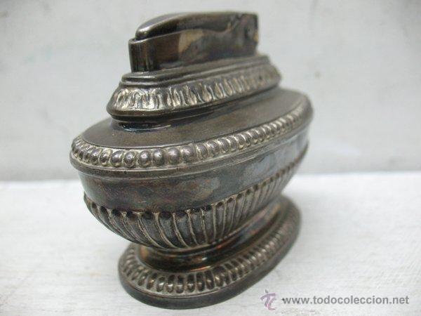 Mecheros: Ronson - Antiguo mechero en plata de gasolina de los años 40 - Foto 4 - 44944786