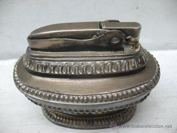 Mecheros: Ronson - Antiguo mechero en plata de gasolina de los años 40 - Foto 5 - 44944786