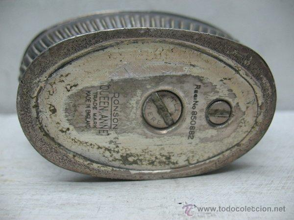 Mecheros: Ronson - Antiguo mechero en plata de gasolina de los años 40 - Foto 6 - 44944786