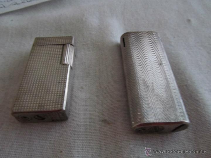 JUEGOS DOS MECHEROS METÁLICOS (Coleccionismo - Objetos para Fumar - Mecheros)