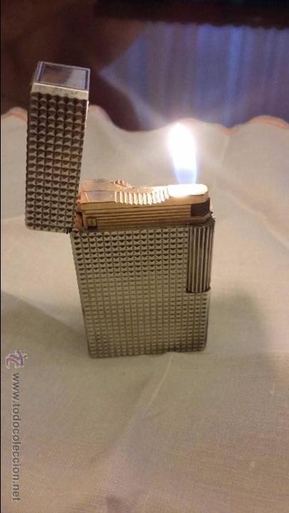 MECHERO / ENCENDEDOR ST DUPONT DE PLATA 3474CG (Coleccionismo - Objetos para Fumar - Mecheros)