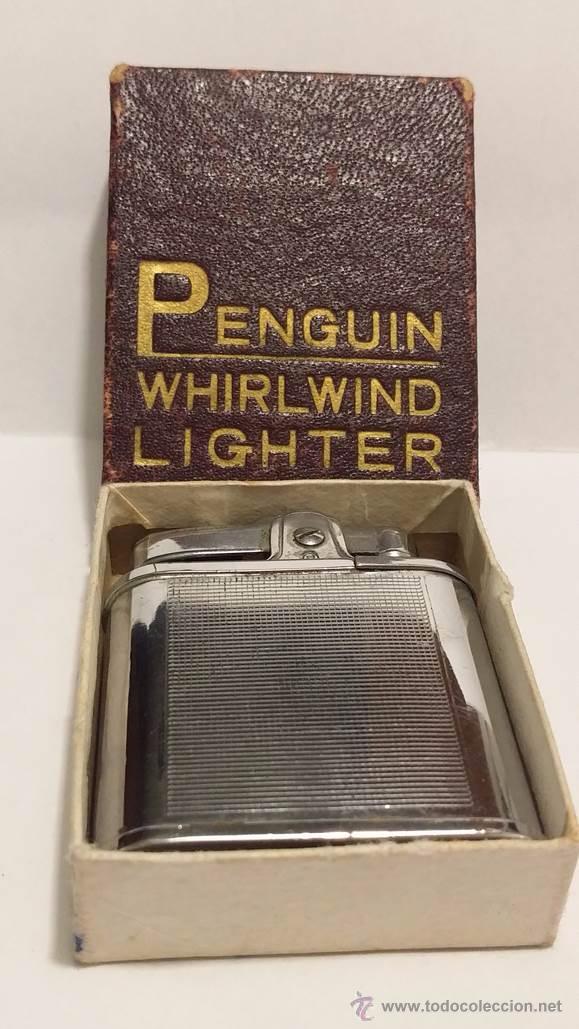 Mecheros: PENGUIN WHIRLWIND LIGHTER-MECHERO DE GASOLINA EN METAL CROMADO CON ESTUCHE - Foto 4 - 50852340