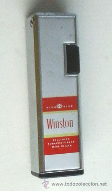 MECHERO, ENCENDEDOR WINSTON. FUNCIONA (Coleccionismo - Objetos para Fumar - Mecheros)