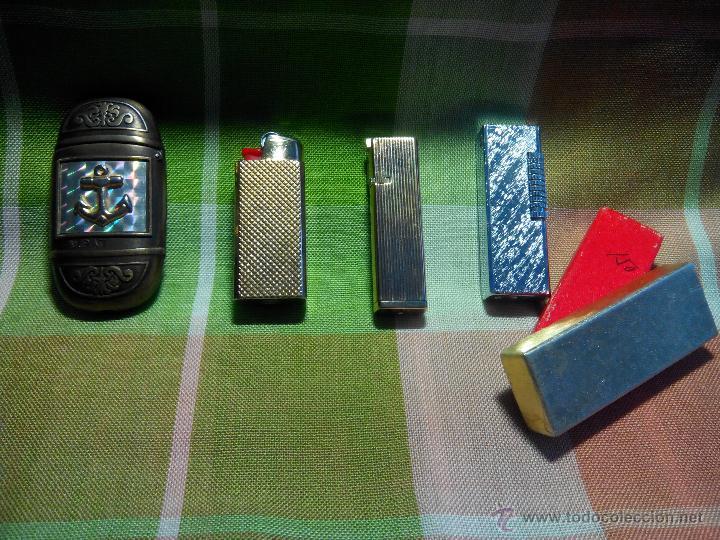 4 MECHEROS METALICOS. AÑOS 70. BUEN ESTADO. DESCRIPCION Y FOTO. (Coleccionismo - Objetos para Fumar - Mecheros)