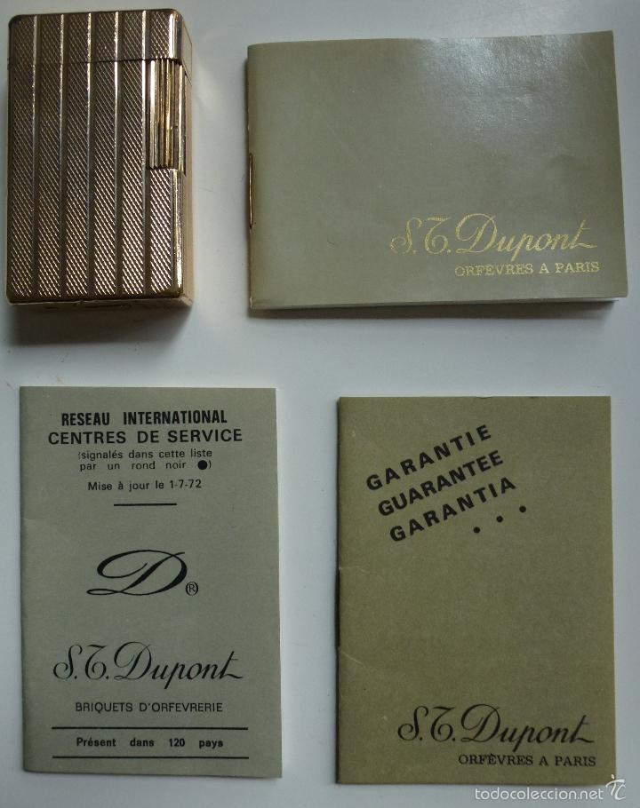 MECHERO. ENCENDEDOR. DUPONT PARIS. (VIENE CON EL ESTUCHE Y DOCUMENTOS) (Coleccionismo - Objetos para Fumar - Mecheros)