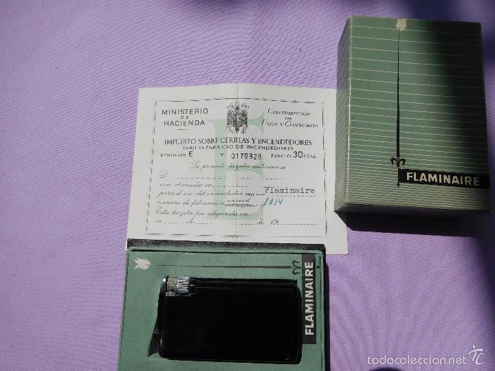 MECHERO NUMERADO CON SU JUSTIFICANTE DE PAGO DE IMPUESTO (Coleccionismo - Objetos para Fumar - Mecheros)