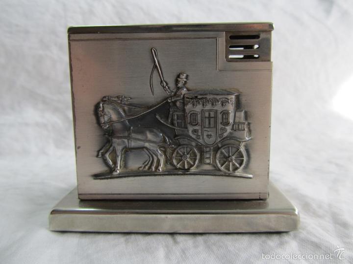 Mecheros: Mechero alemán de sobremesa Augusta Patent Carroza victoriana - Foto 5 - 142595269