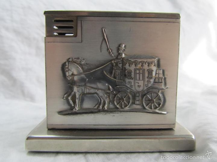 Mecheros: Mechero alemán de sobremesa Augusta Patent Carroza victoriana - Foto 7 - 142595269