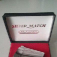 Mecheros: MECHERO SILVER MATCH HURACÁN EN CAJA ORIGINAL . Lote 57668353