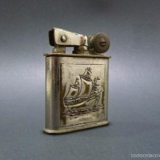 Mecheros: ANTIGUO MECHERO DE GASOLINA METAL CROMADO ART DECO- PRINCIPIOS S.XX. Lote 58156231
