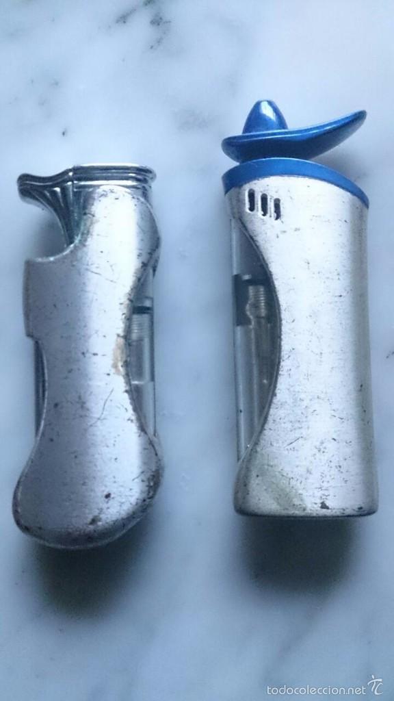 Mecheros: 2 Mecheros metálicos plateados. - Foto 2 - 58204501