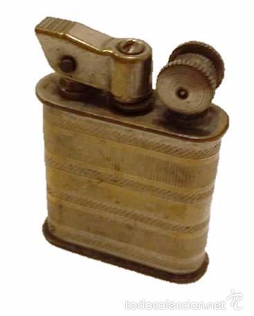 ANTIGUO MECHERO DE GASOLINA EN METAL CROMADO (Coleccionismo - Objetos para Fumar - Mecheros)