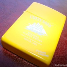 Mecheros: MECHERO TIPO ZIPPO CUTTY SHARK AMARILLO. Lote 60188159