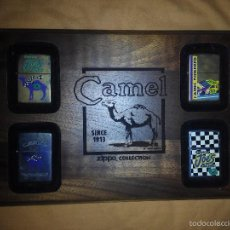 Mecheros: PACK 4 ZIPPOS CAMEL NASCAR ZIPPO MECHEROS COLECCION NUEVOS. Lote 61217107