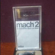 Mecheros: MECHERO / ENCENDEDOR MACH 2 BRAUN CON CABEZA DE PERRO. Lote 63251988