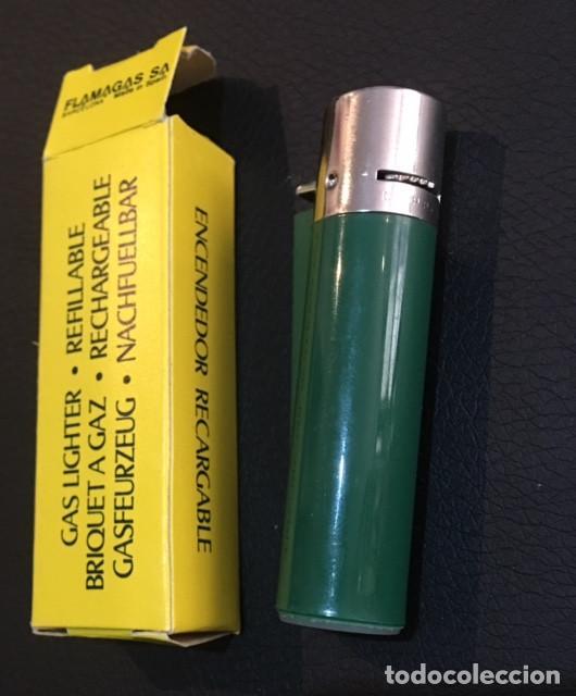 Mecheros: antiguo mechero años 70 clipper regulable verde nuevo a estrenar - Foto 2 - 66091650