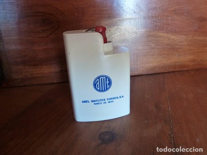 PORTAMECHERO PUBLICIDAD BANCO ABEL MATUTES. BANCO DE IBIZA (Coleccionismo - Objetos para Fumar - Mecheros)