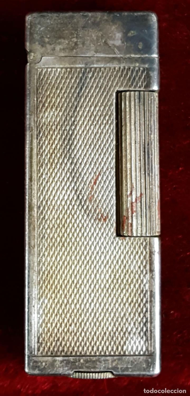 MECHERO DE GASOLINA. DUNHILL. METAL PLATEADO. SUIZA. CIRCA 1970. (Coleccionismo - Objetos para Fumar - Mecheros)