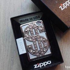 Mecheros: ZIPPO DOLLAR BLING SWAROVSKI. Lote 77230921