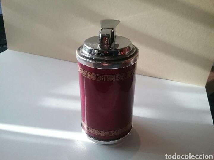 Mecheros: Mechero antiguo en plata de ley, esmalte en rojo - Foto 2 - 82480252