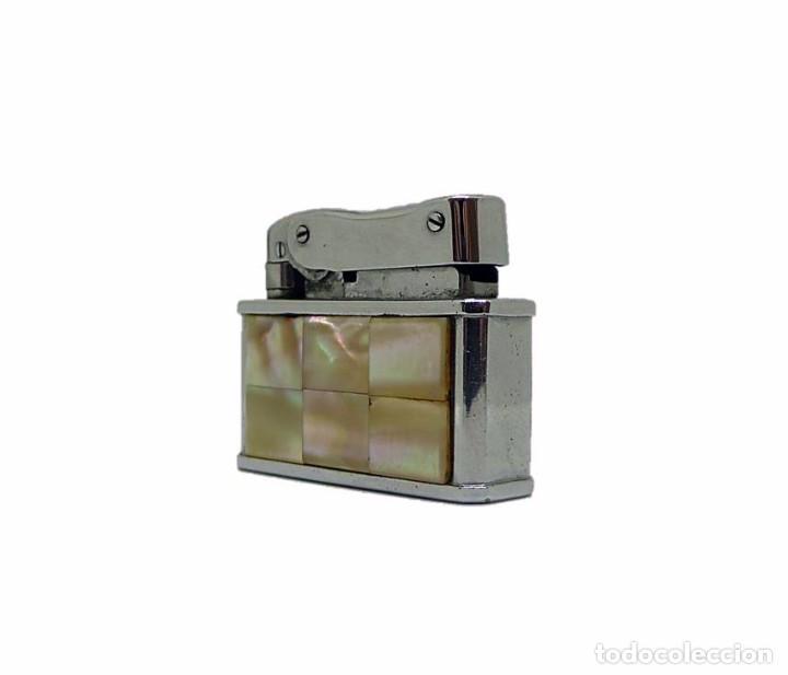 Mecheros: Mechero de gasolina metal cromado y forrado de nácar KBL OCTAGON - Foto 2 - 82796924