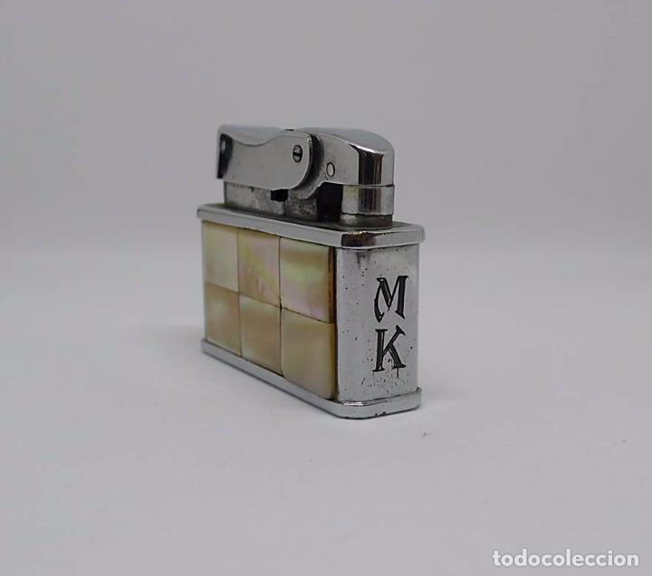 Mecheros: Mechero de gasolina metal cromado y forrado de nácar KBL OCTAGON - Foto 4 - 82796924