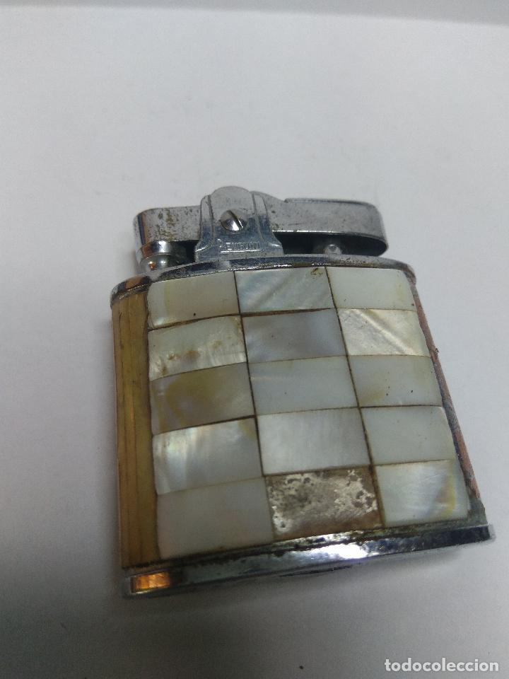 MECHERO PENGUIN CON NACAR VER DETALLE (Coleccionismo - Objetos para Fumar - Mecheros)